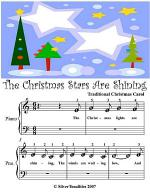 Christmas Stars Are Shining - Beginner Tots Piano Sheet Music