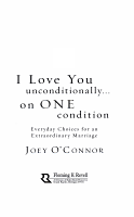I Love You Unconditionally  on One Condition PDF