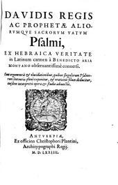 DAVIDIS REGIS AC PROPHETAE ALIORUMQUE SACRORUM VATUM Psalmi