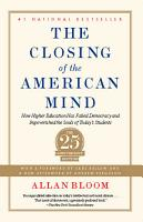 Closing of the American Mind PDF