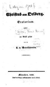 Christus am Oelberg: Oratorium