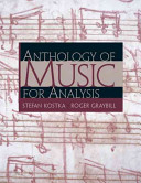 Anthology of music for analysis Book