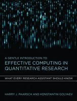 A Gentle Introduction to Effective Computing in Quantitative Research PDF