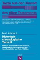 Historisch chronologische Texte III PDF