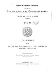 Bibliographical Contributions: Issue 8