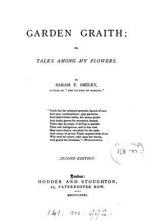 Garden graith  or  Talks among my flowers PDF
