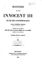 Histoire du Pape Innocent III et de ses contemporains: Volume2