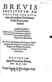 Brevis Institutio ad pietatem christianam