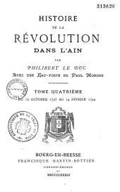 Histoire de la révolution dans l'Ain: Volume4