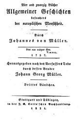 Johannes von Müllers sämmtliche Werke: Volumes3à4