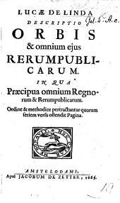 L. de Linda. Descriptio Orbis et omnium ejus rerumpublicarum, etc