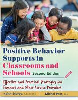 POSITIVE BEHAVIOR SUPPORTS IN CLASSROOMS AND SCHOOLS PDF