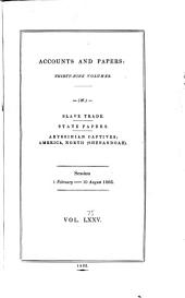 Parliamentary Papers: Volume 75