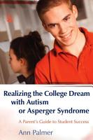 Realizing the College Dream with Autism Or Asperger Syndrome PDF