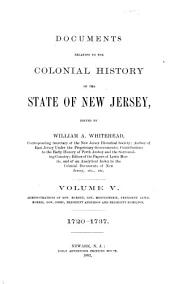 Documents Relating to the Colonial History of the State of New Jersey: Volume 5