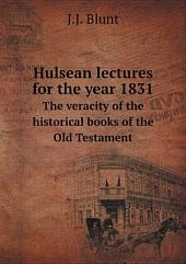 Hulsean lectures for the year 1831
