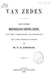 Van zeden: een tweede Middelnederlandsch zedekundig leerdicht, uit het Comburger handschrift