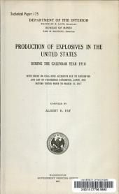 Production of explosives in the United States: during the calendar year 1916