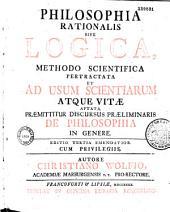 Philosophia rationalis sive logica... autore Christiano Wolfio