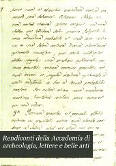 Rendiconti della Accademia di archeologia, lettere e belle arti: Volume 21