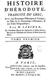 Histoire d'Hérodote: Volume 1