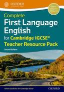 First Language English For Cambridge Igcse Teacher Resource Pack