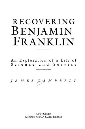 Recovering Benjamin Franklin PDF