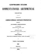Leonhardi Euleri Commentationes arithmeticae collectae, auspiciis Academiae imperialis scientiarum petropolitanae: Volume 2