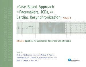 A Case Based Approach to Pacemakers  Icds  and Cardiac Resynchronization PDF