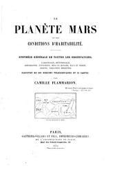 La Planète Mars et ses conditions d'habitabilité: Volume1