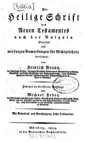 Die Heilige Schrift des Alten Testamentes: ¬Die heilige Schrift des neuen Testamentes nach der Vulgata, Band 3