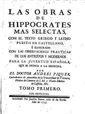 Las obras mas selectas, con el texto griego y latino puesto en castellano.