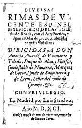Diversas rimas, con el arte poetica y algunas odas de Oracio, trazud. en verso Castellano