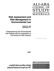 Risk Assessment and Risk Management in Environmental Law PDF