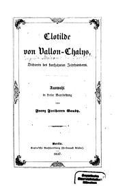 Clotilde von Vallon-Chalys, Dichterin des fünfzehnten Jahrhunderts