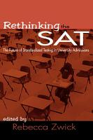 Rethinking the SAT PDF