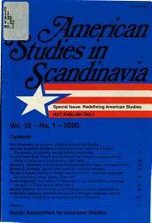 American Studies in Scandinavia PDF