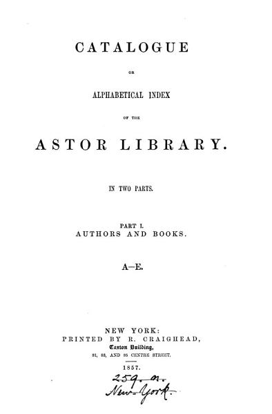 Download Catalogue or alphabetical index Book