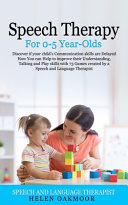 Speech Therapy For 0 5 Year Olds PDF