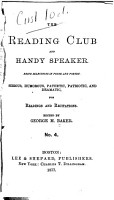 The Reading Club and Handy Speaker PDF