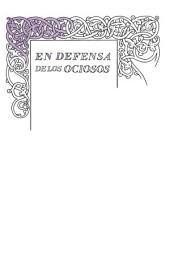 En defensa de los ociosos (Serie Great Ideas 34)