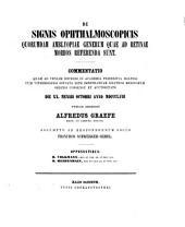 De signis ophthalmoscopicis quorumdam amblyopiae generum quae ad retinae morbos referenda sunt comentatio: (Diss. inaug.)