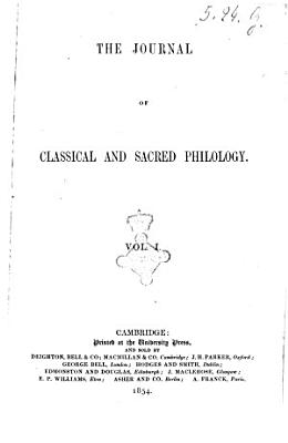 The Journal of Classical and Sacred Philology PDF