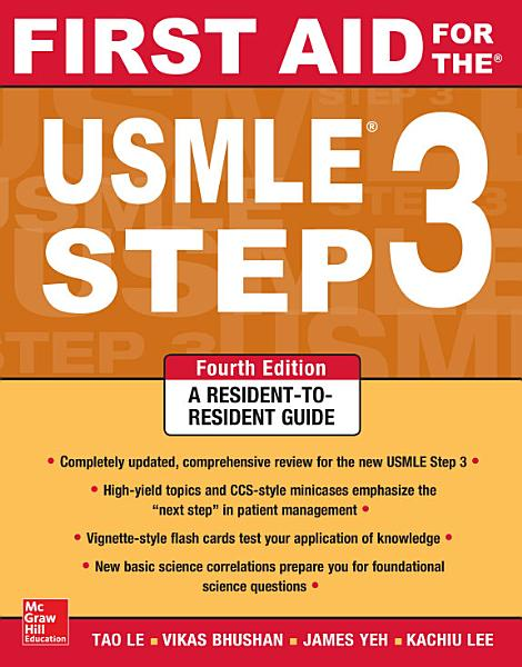 First Aid for the USMLE Step 3  Fourth Edition PDF
