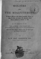 Moli  re and the Misanthrope PDF