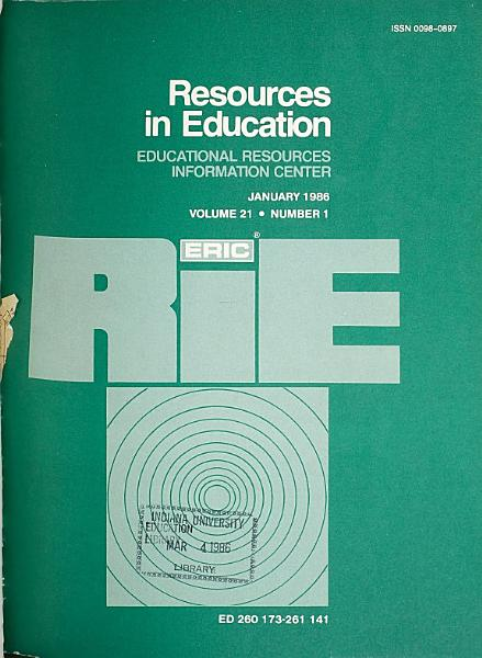 Download Resources in Education Book