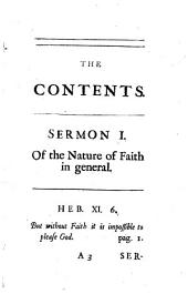 Fifteen sermons on various subjects, viz. Of faith in general [&c.]. Vol.12 [of Sermons] publ. by R. Barker