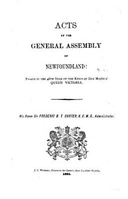 Statutes of the Province of Newfoundland and Labrador PDF