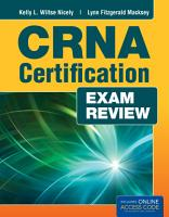 CRNA Certification Exam Review PDF