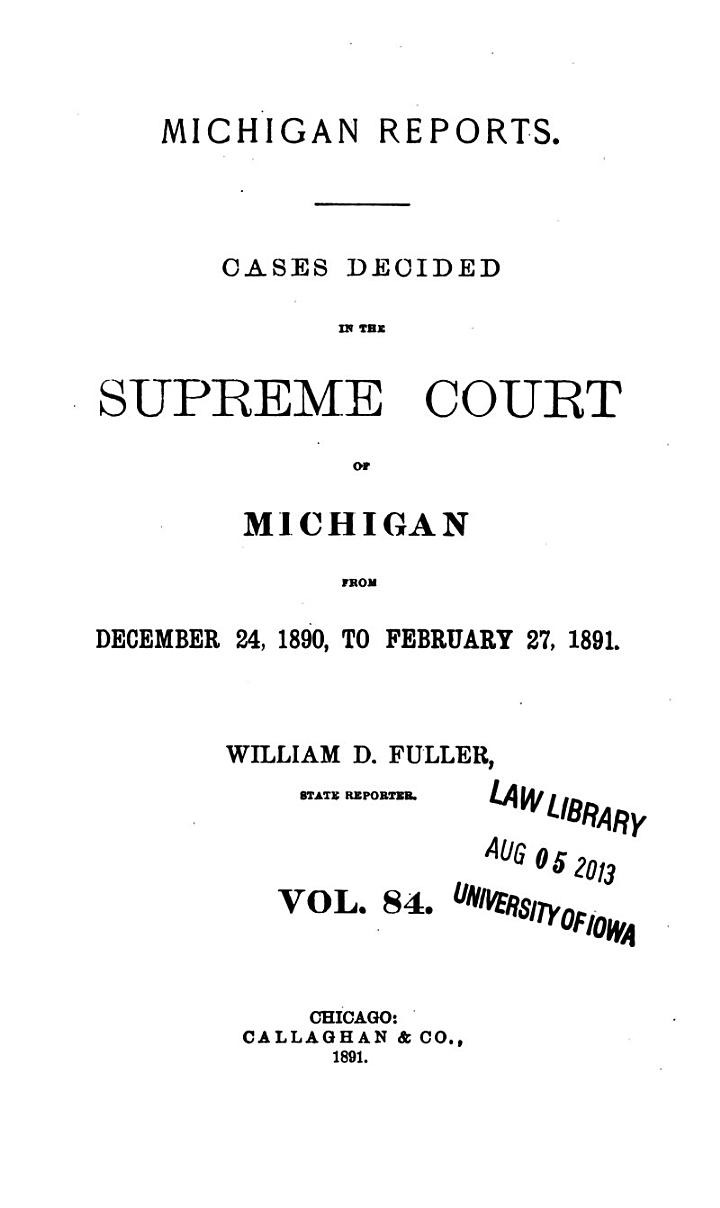 Michigan Reports